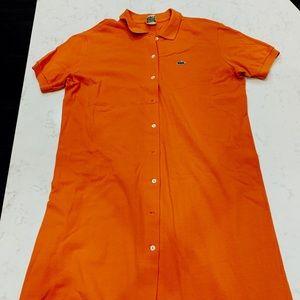 Orange Lacoste Dress
